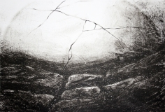 Aurinko ja meri. litografia, 2013, 42 x 30 cm