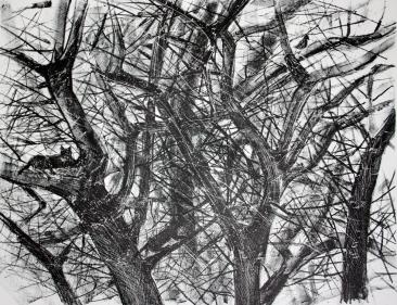 Saalistajat ja uhri. litografia, 2013, 42 x 30 cm