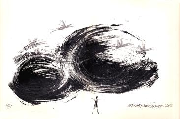 Jotain suurta. serigarafia, 42 x 30 cm, 2012