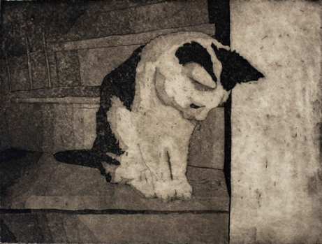 Luna, etsaus/akvatinta, 2009