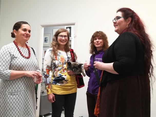 Vasemmalta taiteilijat Heli Piittala-Virtanen, Oga Krok, Hanna Tammi ja Annemaria Silvola.