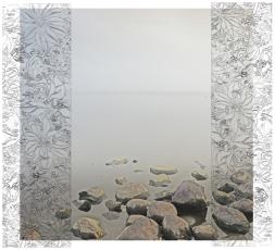 Mökinikkuna IV,2018, 40x36cm